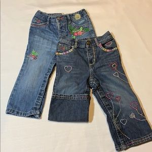 (2) pairs Baby Gap distressed jeans(18-24 months)